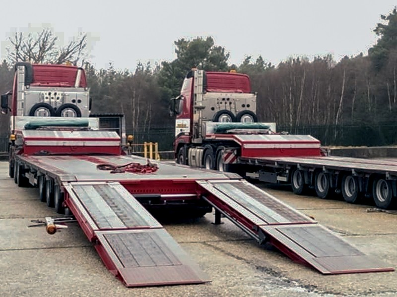 4 Axle SemiLow Loaders - Steering option availabe